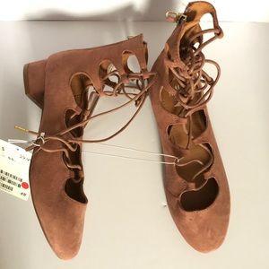 H&M high top lace up shoes Sz 36 (5.5)